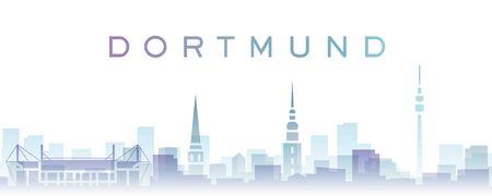 Dortmund Transparent Layers Gradient Landmarks Skyline