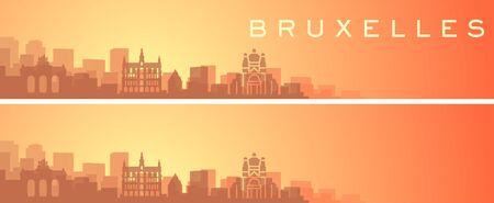 Brussels Beautiful Skyline Scenery Banner