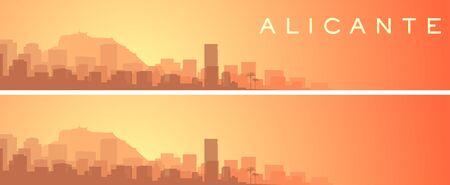 Alicante Beautiful Skyline Scenery Banner