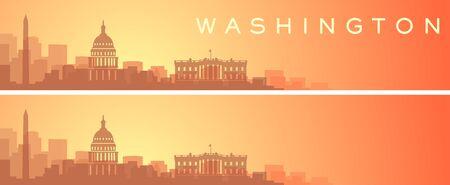 Washington Beautiful Skyline Scenery Banner