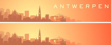 Antwerp Beautiful Skyline Scenery Banner