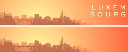 Luxembourg Beautiful Skyline Scenery Banner