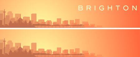 Brighton Beautiful Skyline Scenery Banner