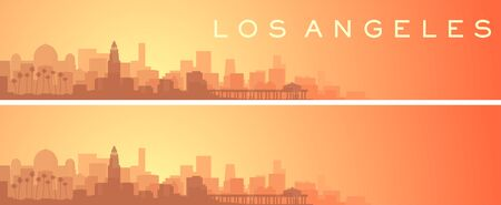 Los Angeles Beautiful Skyline Scenery Banner