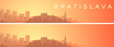 Bratislava Beautiful Skyline Scenery Banner
