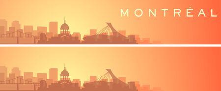 Montreal Beautiful Skyline Scenery Banner Иллюстрация