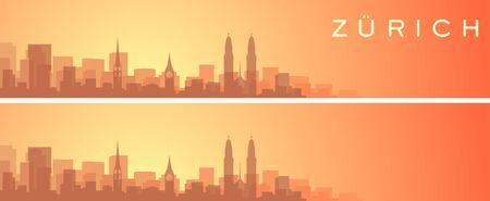 Zurich Beautiful Skyline Scenery Banner
