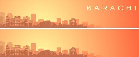 Karachi Beautiful Skyline Scenery Banner