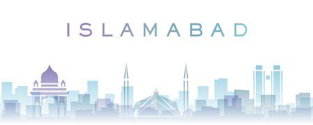 Islamabad Transparent Layers Gradient Landmarks Skyline