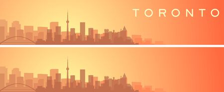 Toronto Beautiful Skyline Scenery Banner 向量圖像