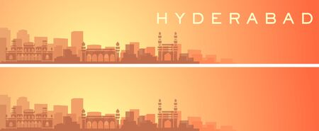Hyderabad Beautiful Skyline Scenery Banner