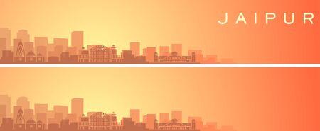Jaipur Beautiful Skyline Scenery Banner 向量圖像