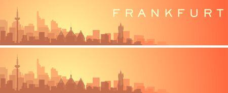 Frankfurt Beautiful Skyline Scenery Banner