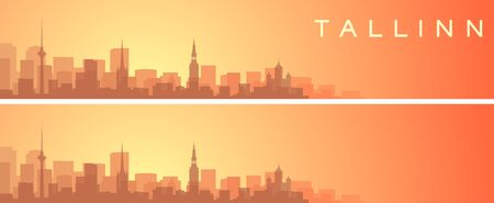 Tallinn Beautiful Skyline Scenery Banner