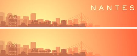Nantes Beautiful Skyline Scenery Banner