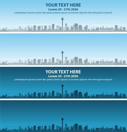 Calgary Skyline Profile Event Banner 向量圖像