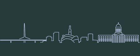 Winnipeg Single Line Skyline Profile 向量圖像