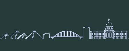 Edmonton Single Line Skyline Profile 向量圖像