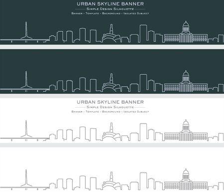 Winnipeg Single Line Skyline Profile Banner