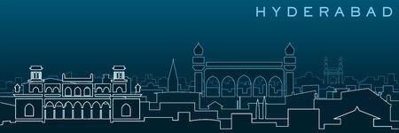Hyderabad Multiple Lines Skyline and Landmarks