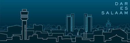 Dar Es Salaam Multiple Lines Skyline and Landmarks