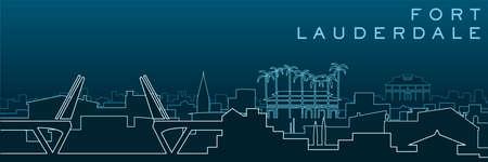 Fort Lauderdale Multiple Lines Skyline and Landmarks