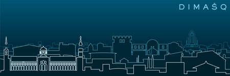 Damascus Multiple Lines Skyline and Landmarks