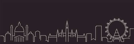 Vienna Single Line Simple Minimalist Skyline