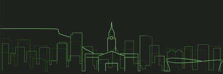 Cape Town Futurist Technology Light Trace Skyline