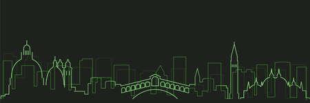 Venice Futurist Technology Light Trace Skyline