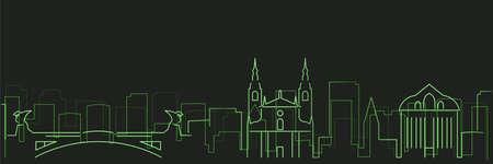 Ljubljana Futurist Technology Light Trace Skyline