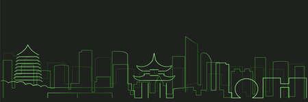Hangzhou Futurist Technology Light Trace Skyline