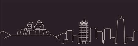 Zhengzhou Single Line Simple Minimalist Skyline