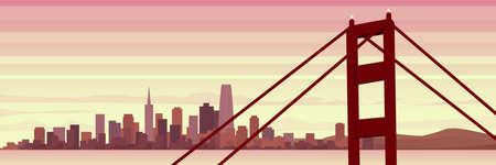 San Francisco Scene Beautiful Panoramic Banner