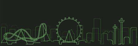 Orlando Futurist Technology Light Trace Skyline