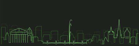 Geneva Futurist Technology Light Trace Skyline