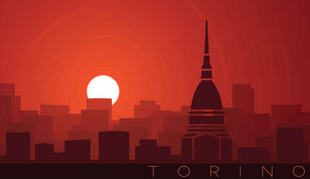 Turin Low Sun Skyline Scene