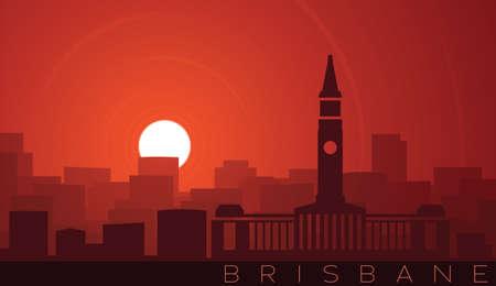 Brisbane Low Sun Skyline Scene