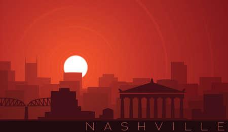 Nashville Low Sun Skyline Scene