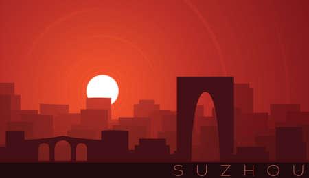 Suzhou Low Sun Skyline Scene