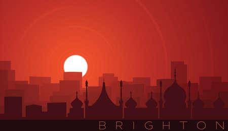 Brighton Low Sun Skyline Scene