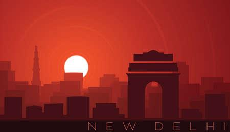 New Delhi Low Sun Skyline Scene