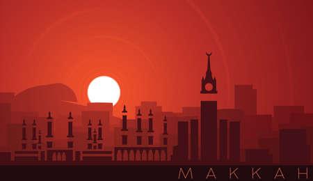 Mecca Low Sun Skyline Scene