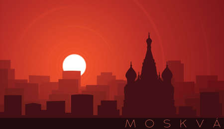 Moscow Low Sun Skyline Scene