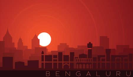 Bangalore Low Sun Skyline Scene