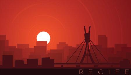 Recife Low Sun Skyline Scene