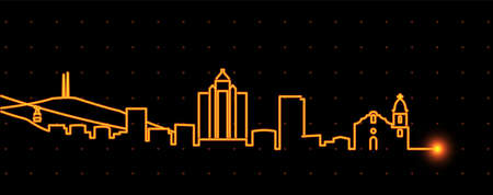 El Paso Light Streak Skyline Profile