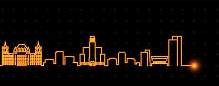 Albany Light Streak Skyline Profile