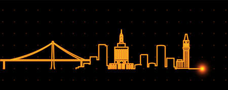 Oakland Light Streak Skyline Profile