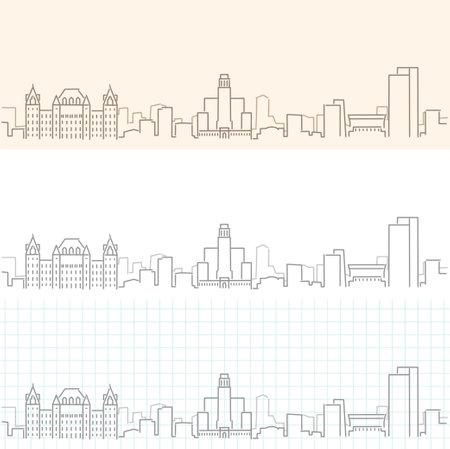 Albany Hand Drawn Profile Skyline 矢量图像